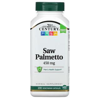 21st Century, Saw Palmetto, Sägepalmenbeeren, 450 mg, 200 pflanzliche Kapseln
