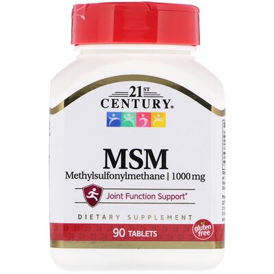 МСМ (метилсульфонилметан) максимальной силы, 1000 мг, 90 таблеток