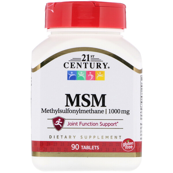 MSM, Methylsulfonylmethane, 1,000 mg, 90 Tablets