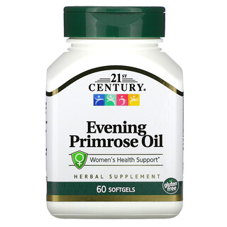 21st Century, масло примулы вечерней, поддержка здоровья для женщин, 60капсул