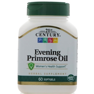 21st Century, Evening Primrose Oil, 60 Softgels