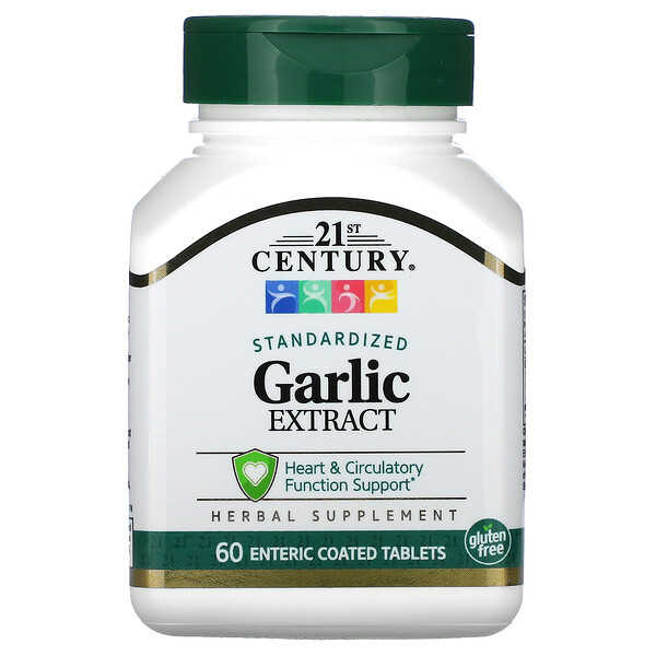 Garlic Extract, Standardized, 60 Enteric Coated Tablets