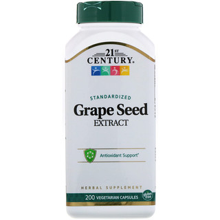 21st Century, Standardized Grape Seed Extract, 200 Vegetarian Capsules