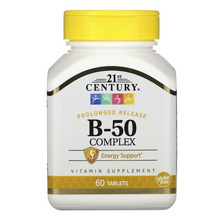 21st Century, B-50 Complex, Prolonged Release, 60 Tablets