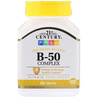 21st Century, Комплекс B-50, Длительное высвобождение, 60 таблеток