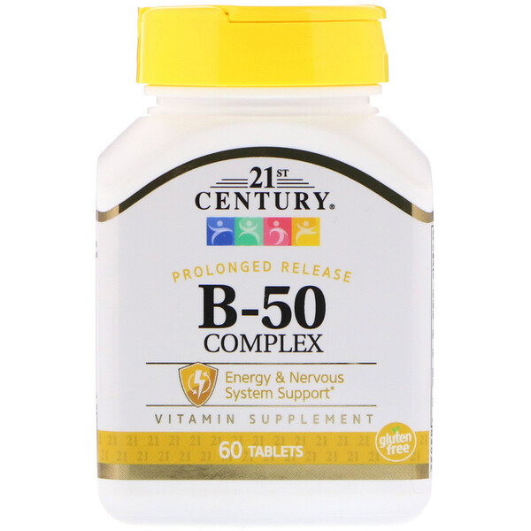 B-50 Complex, Prolonged Release, 60 Tablets