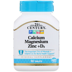 21 Сенчури, Calcium Magnesium Zinc + D3, 90 Tablets отзывы покупателей
