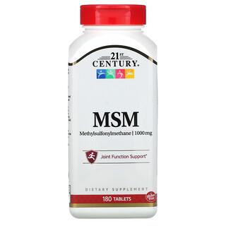 21st Century, MSM, Methylsulfonylmethane, 1,000 mg, 180 Tablets