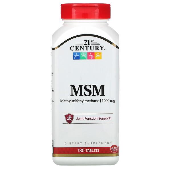 MSM, Methylsulfonylmethane, 1,000 mg, 180 Tablets