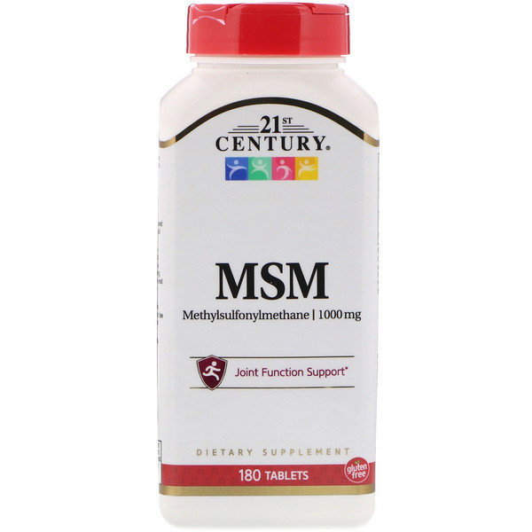 MSM-1000 Force maximale, 1 000 mg, 180 Comprimés