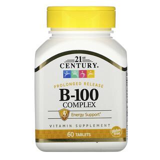 21st Century, Complejo B-100, liberación prolongada, 60 comprimidos