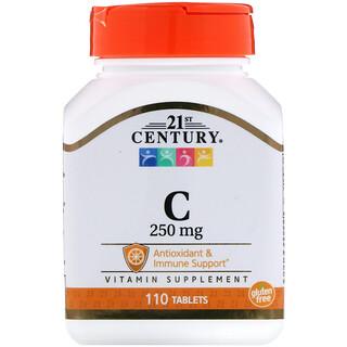 21st Century, Vitamin C, 250 mg, 110 Tablets