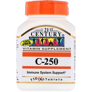 21st Century, C-250, 110 Tablets