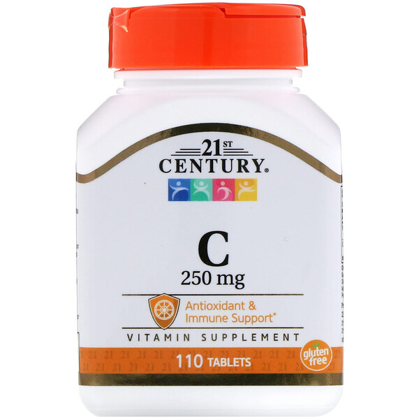21st Century, Vitamin C, 250 mg, 110 Tablets
