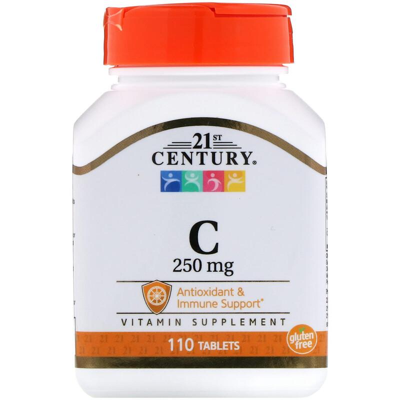 Vitamin C, 250 mg, 110 Tablets