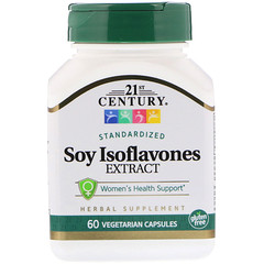 21st Century, Soy Isoflavones Extract, Standardized, 60 Vegetarian Capsules