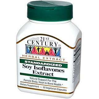 21st Century, Soy Isoflavones Extract, Standardized, 60 Veggie Caps