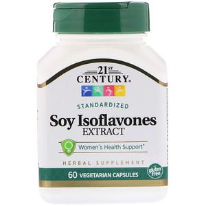 21 Сенчури, Soy Isoflavones Extract, Standardized, 60 Vegetarian Capsules отзывы