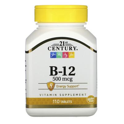 21st Century B-12, 500мкг, 110таблеток