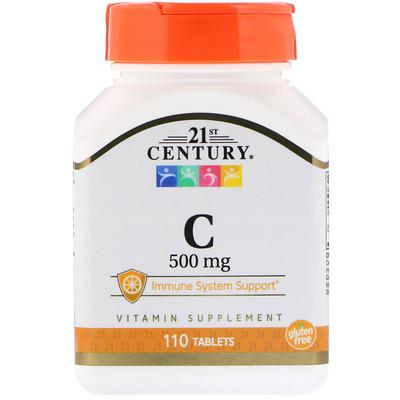 21st Century Витамин С, 500 мг, 110 таблеток