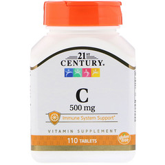 21st Century, C, 500 mg, 110 Tablets