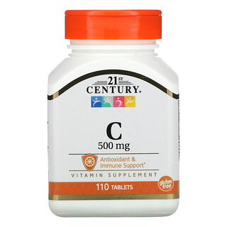 21st Century, Vitamin C, 500 mg, 110 Tablets