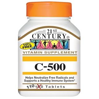 21st Century, C-500, 110 Tablets
