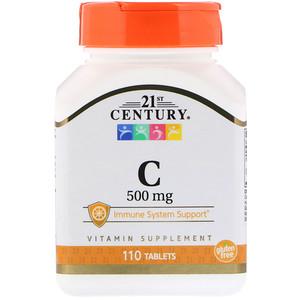 21 Сенчури, C, 500 mg, 110 Tablets отзывы