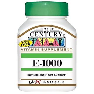 21st Century, E-1000, 55 Softgels