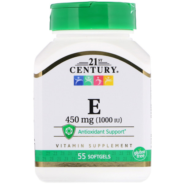 E, 450 mg (1,000 IU), 55 Softgels