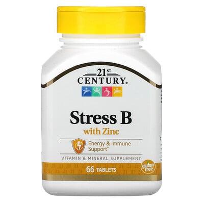 Купить 21st Century StressB, с цинком, 66таблеток