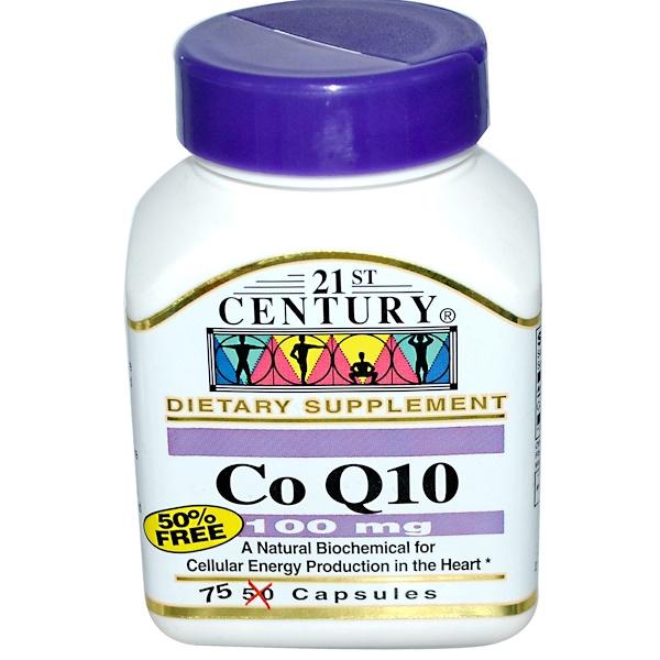 21st Century, Co Q10, 100 mg, 75 Capsules (Discontinued Item)