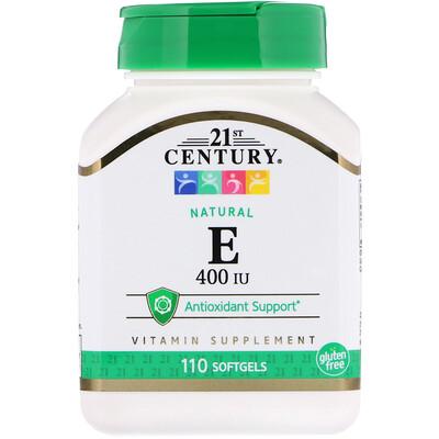 E, Natural, 400 IU, 110 Softgels