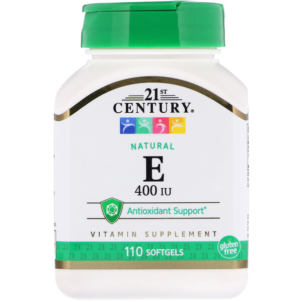 E, Natural, 400 IU, 110 Softgels