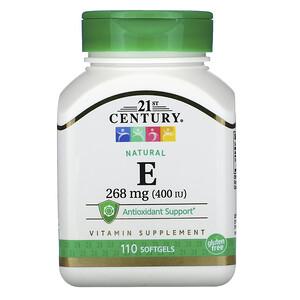 21 Сенчури, Natural Vitamin E, 268 mg (400 IU), 110 Softgels отзывы покупателей