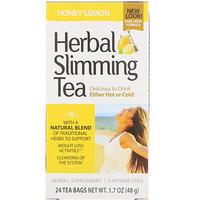 Растительный чай для похудения, мед с лимоном, без кофеина, 24чайных пакетика, 48г - фото