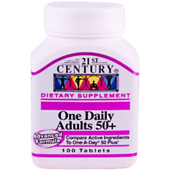 21st Century, One Daily Adults 50+, 100 Tablets (Discontinued Item)
