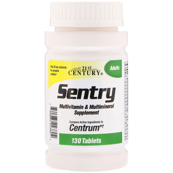 21st Century, Sentry, Multivitamin & Multimineral Supplement, 130 Tablets