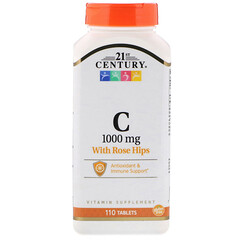 21st Century, Vitamin C, with Rose Hips, 1000 mg, 110 Tablets