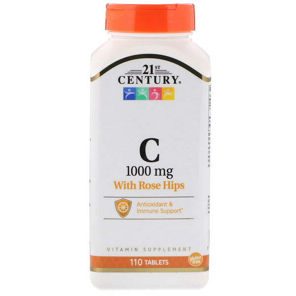21st Century, Vitamin C with Rose Hips, 1,000 mg, 110 Tablets