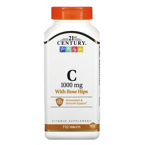 21 Сенчури, Vitamin C with Rose Hips, 1,000 mg, 110 Tablets отзывы покупателей