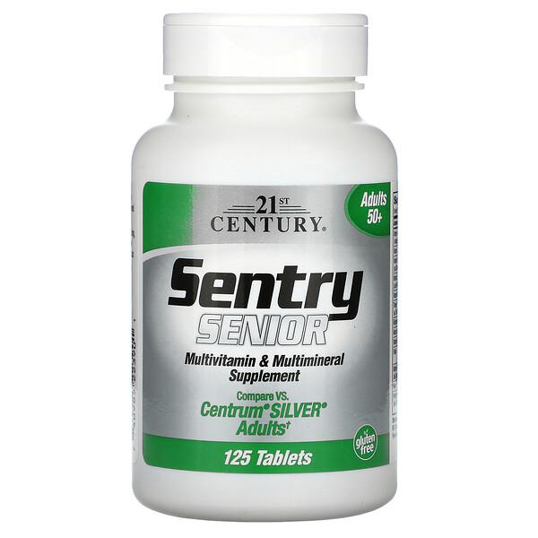 Sentry Senior,多种维生素及矿物质补充,成人 50+,125 片