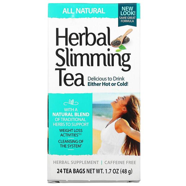 Herbal Slimming Tea, All Natural, Caffeine Free, 24 Tea Bags, 1.7 oz (48 g)