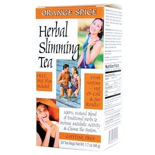 21st Century, Herbal Slimming Tea, Orange Spice, Caffeine Free, 24 Tea Bags, 1.6 oz (45 g)
