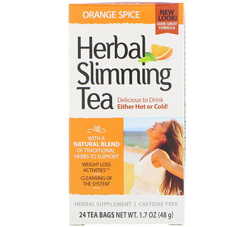 21st Century, Herbal Slimming Tea, Orange Spice, Caffeine Free, 24 Tea Bags, 1.7 oz (48 g)