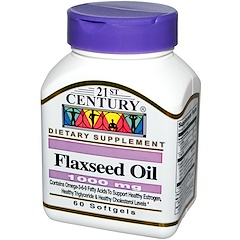 21st Century, Flaxseed Oil, 1000 mg, 60 Softgels