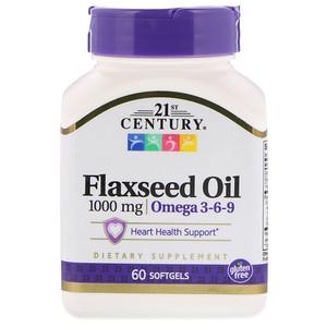 21 Сенчури, Flaxseed Oil, 1,000 mg, 60 Softgels отзывы покупателей