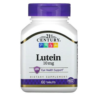 21st Century Лютеин, 10 мг, 60 таблеток