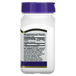 21st Century, Lutein, 10 mg, 60 Tablets