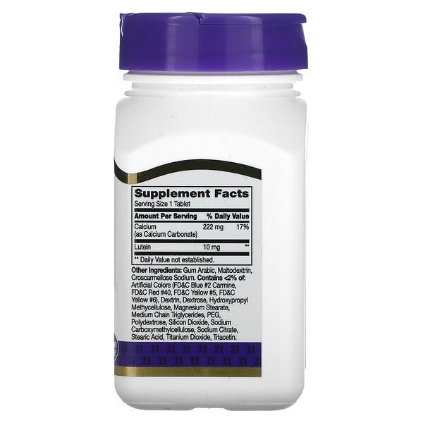 Luteína, 10 mg, 60 Tabletas